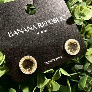 BANANA REPUBLIC 🌟 crystal halo earrings NWT 🌟